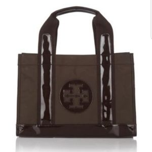 Tory Burch Mini Nylon Coconut Brown Tote